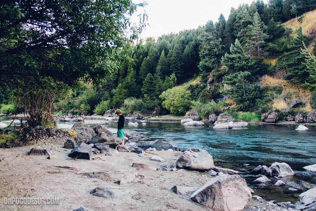 Acampando rio Simpson