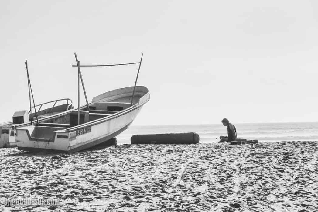 Mochileros en Canoa