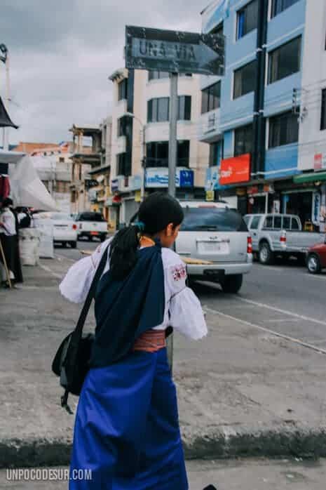 Mochileros en Otavalo