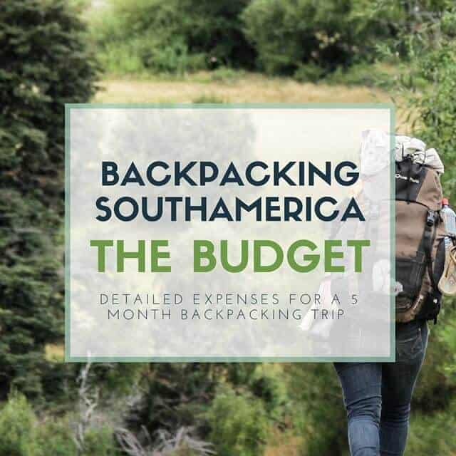 Backpacking south america budget