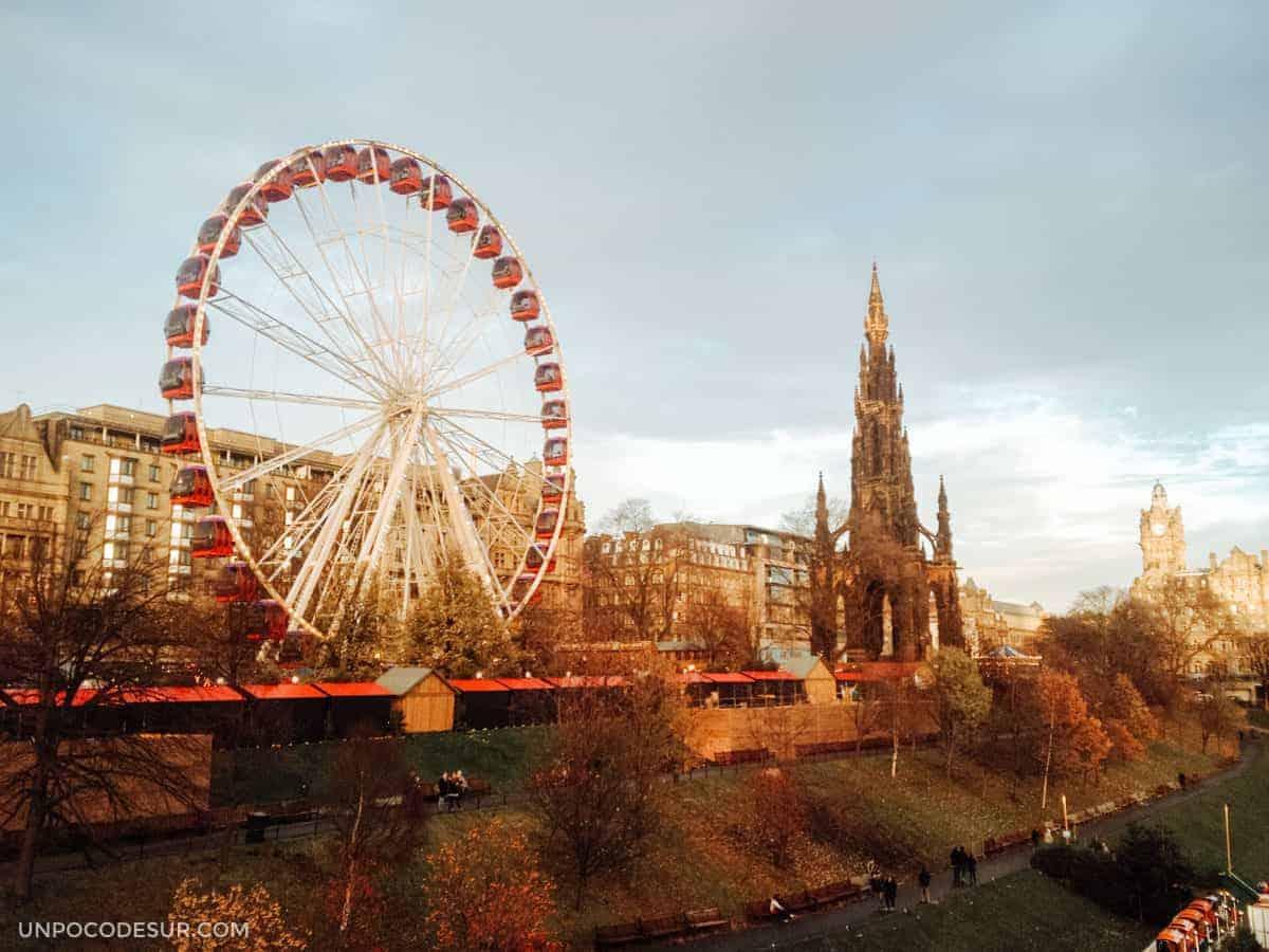 Mercados de navidad en Edimburgo