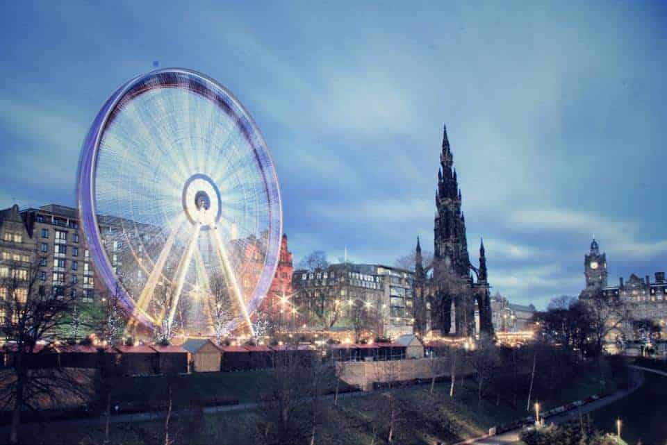Mercado de navidad Edimburgo