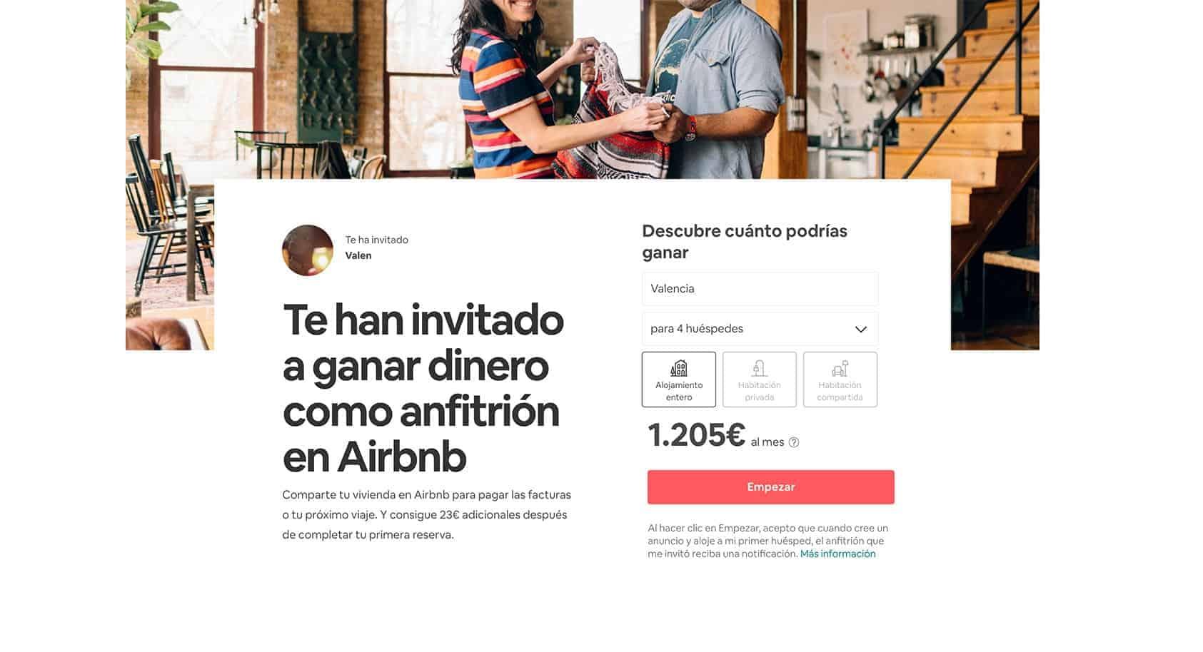 Ganar dinero Airbnb