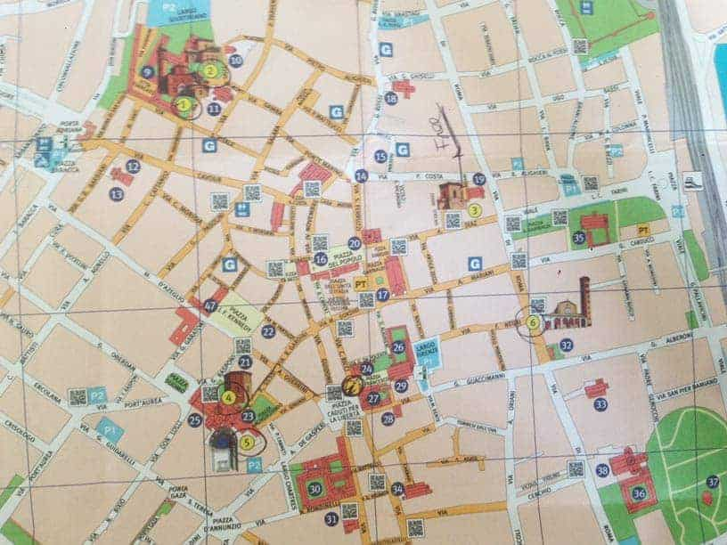 Mapa Ravena