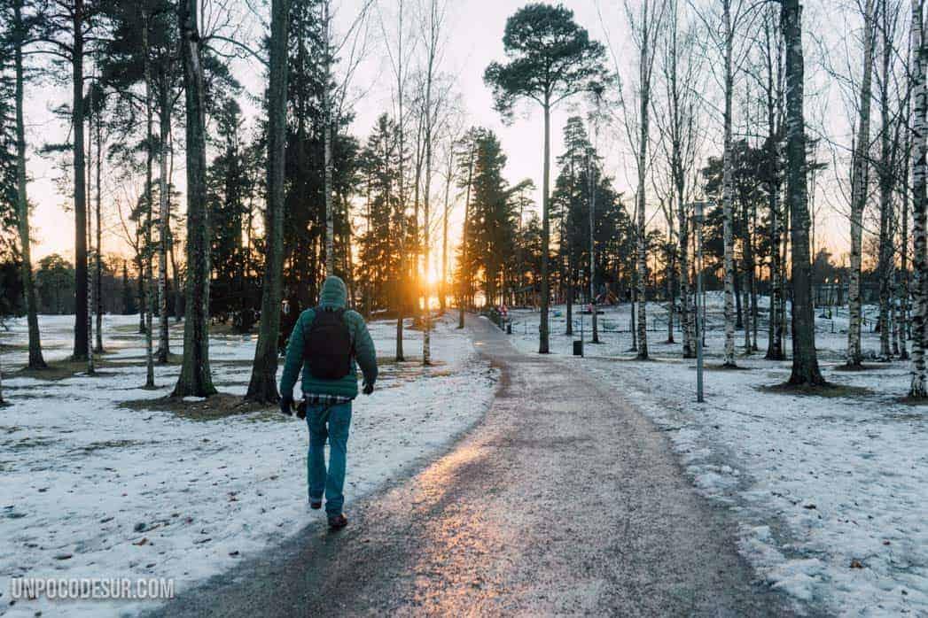 Eila Hiltunen y el parque de sibelius