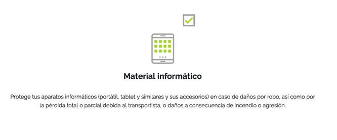 Mejor seguro de viaje con material informático
