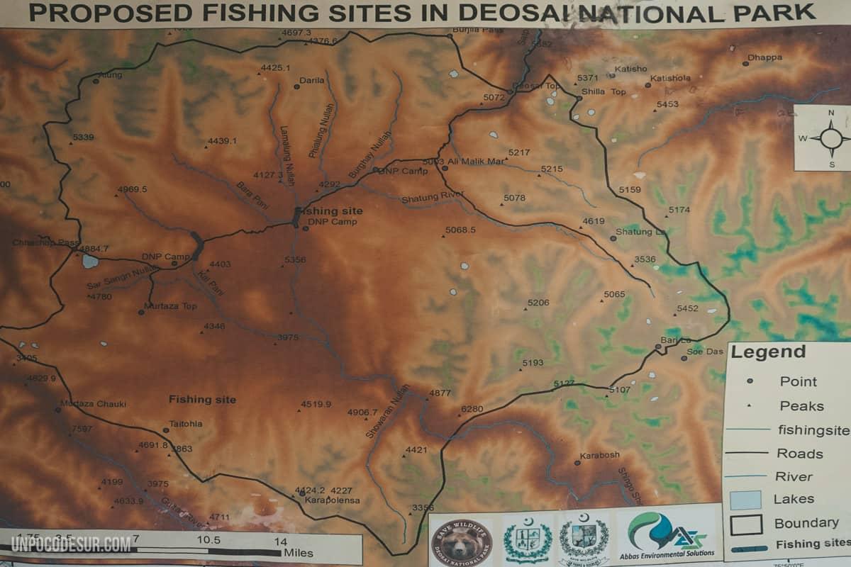 Deosai Park Map