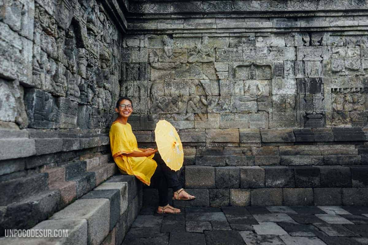 Valen en Borobudur