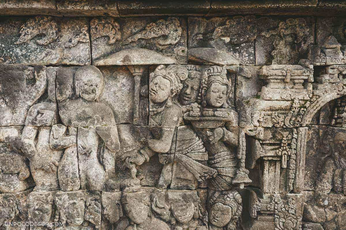 Detalles de paredes Borobudur