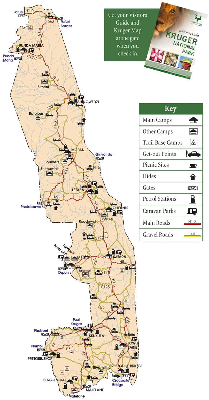 Mapa Parque Kruger