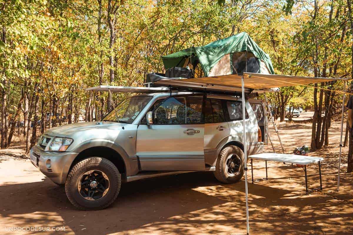 Acampar en el parque Kruger