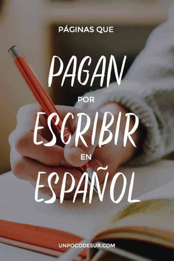 Cobrar por escribir español