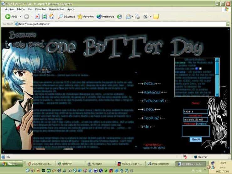 mi primer blog finales del 2002
